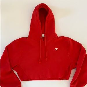 Champion Cropped Hoodie Size Small